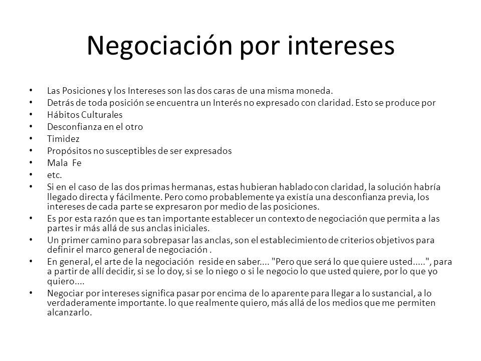 Negociación por intereses