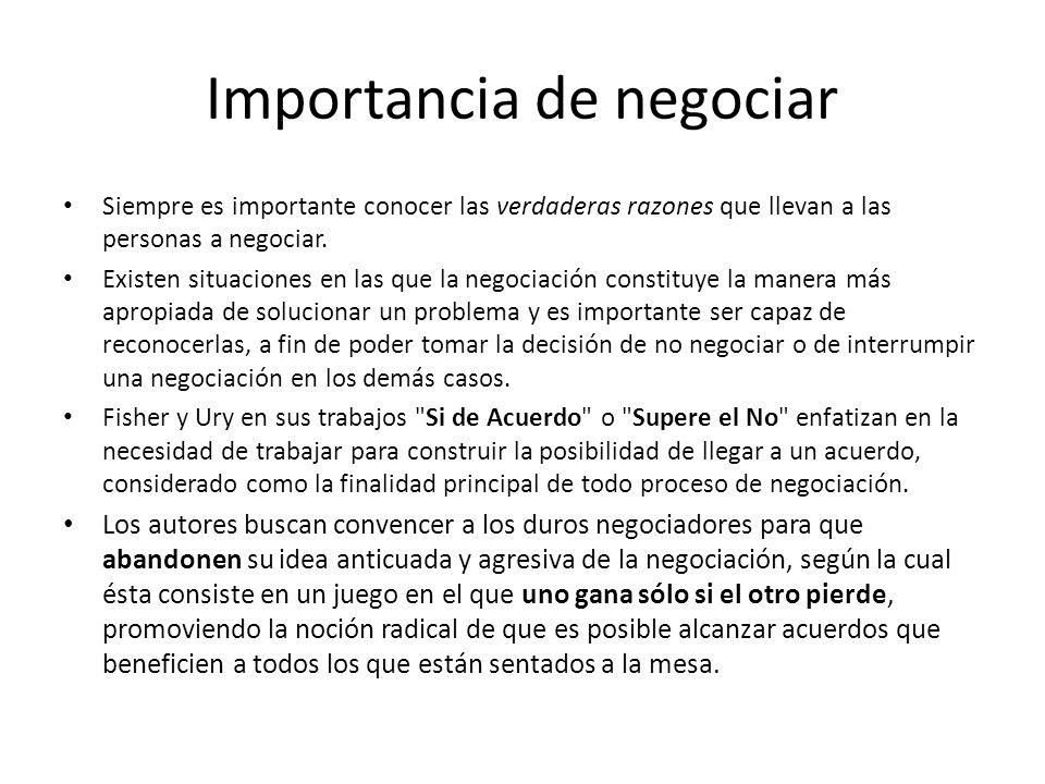 Importancia de negociar