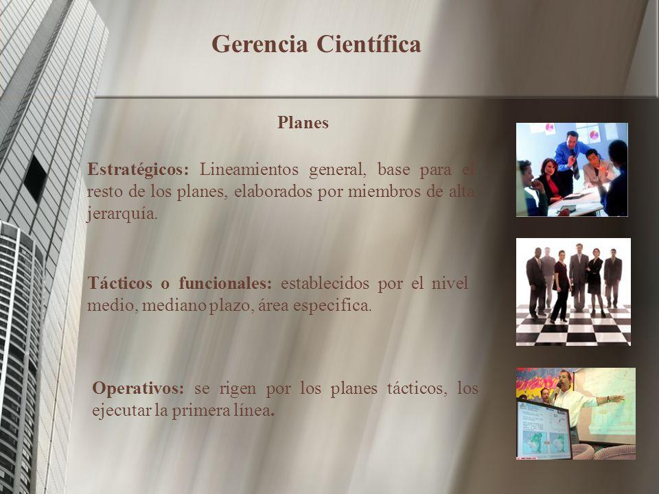 Gerencia Científica Planes