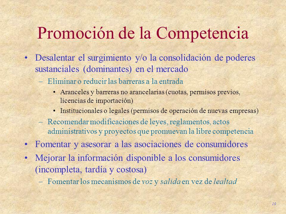 Promoción de la Competencia