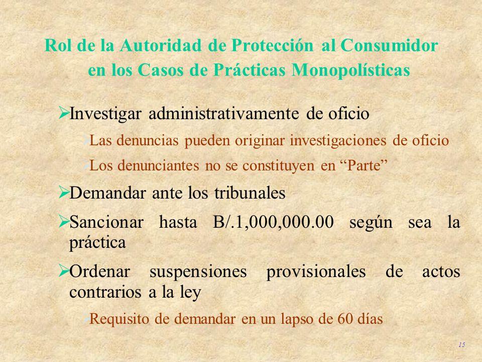 Investigar administrativamente de oficio
