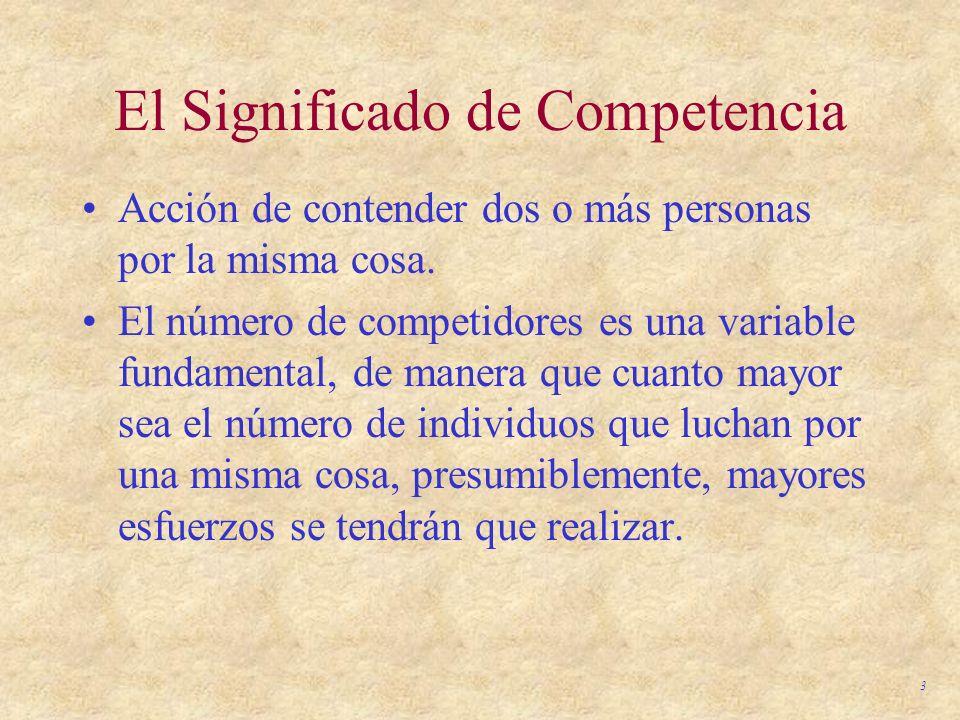 El Significado de Competencia