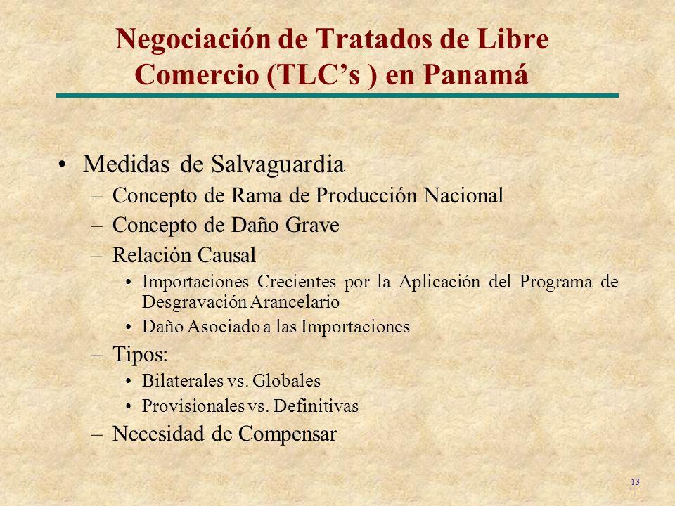 Negociación de Tratados de Libre Comercio (TLC's ) en Panamá
