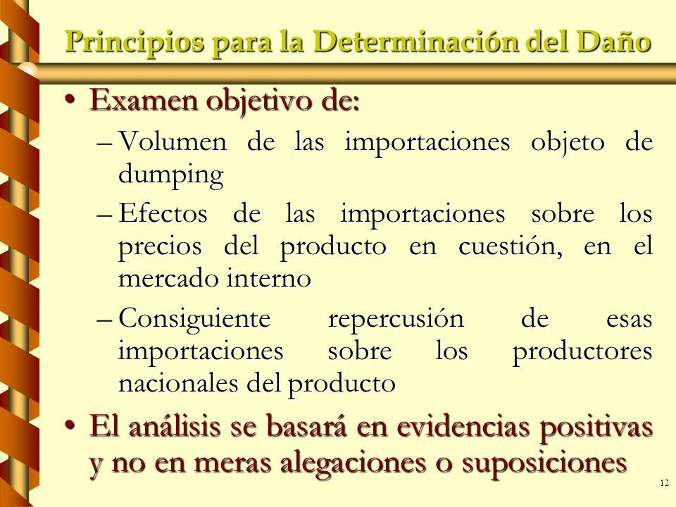 Principios para la Determinación del Daño