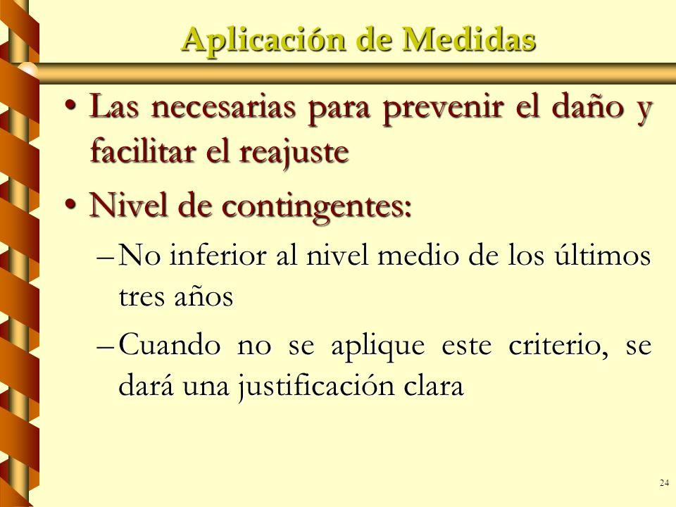 Las necesarias para prevenir el daño y facilitar el reajuste