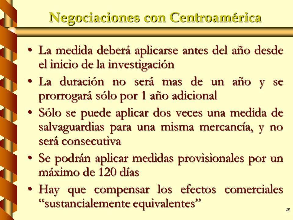 Negociaciones con Centroamérica