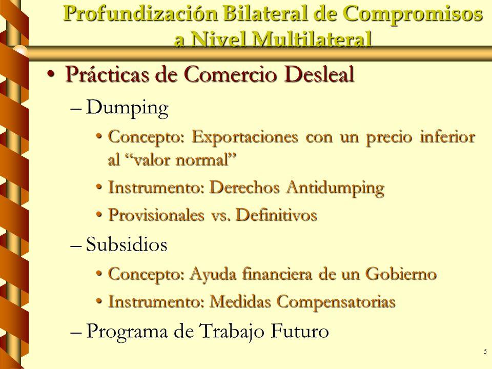 Profundización Bilateral de Compromisos a Nivel Multilateral