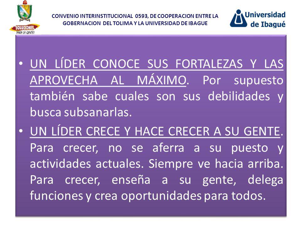 CONVENIO INTERINSTITUCIONAL 0593, DE COOPERACION ENTRE LA GOBERNACION DEL TOLIMA Y LA UNIVERSIDAD DE IBAGUE