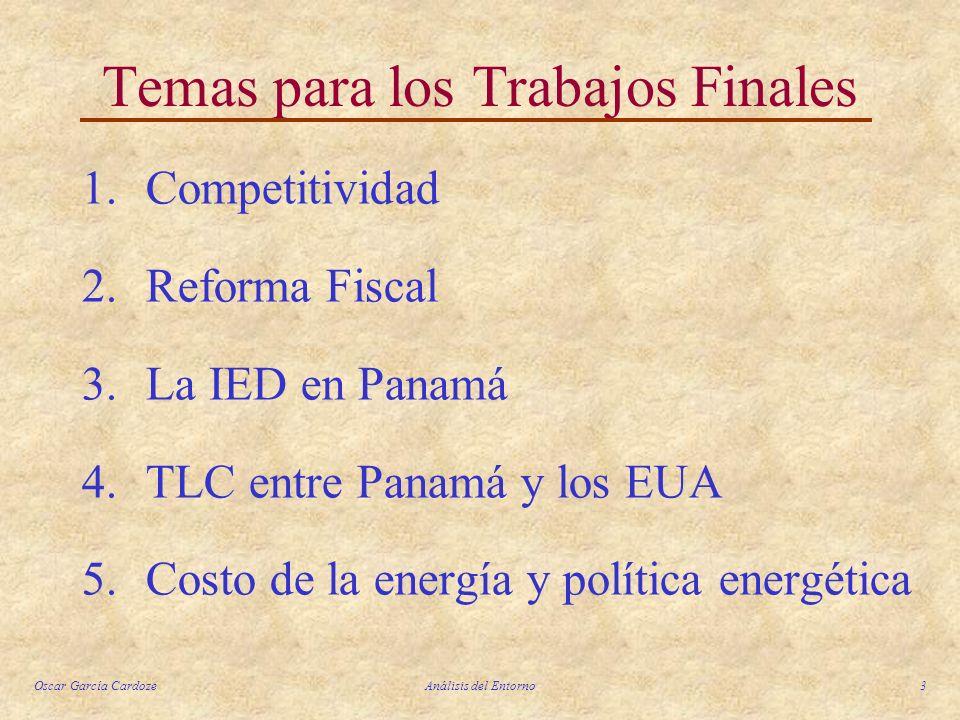 Temas para los Trabajos Finales