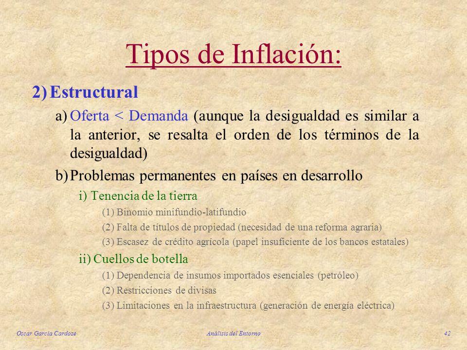 Tipos de Inflación: 2) Estructural