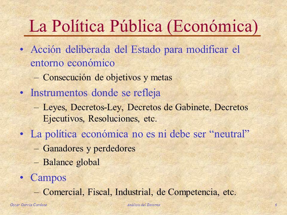 La Política Pública (Económica)