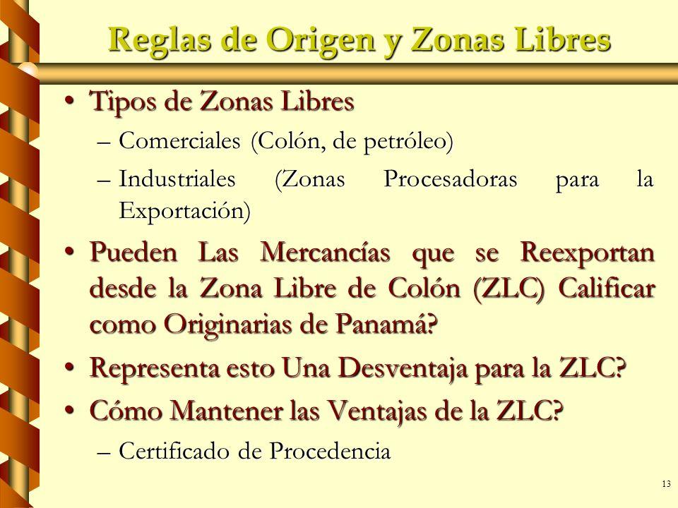 Reglas de Origen y Zonas Libres