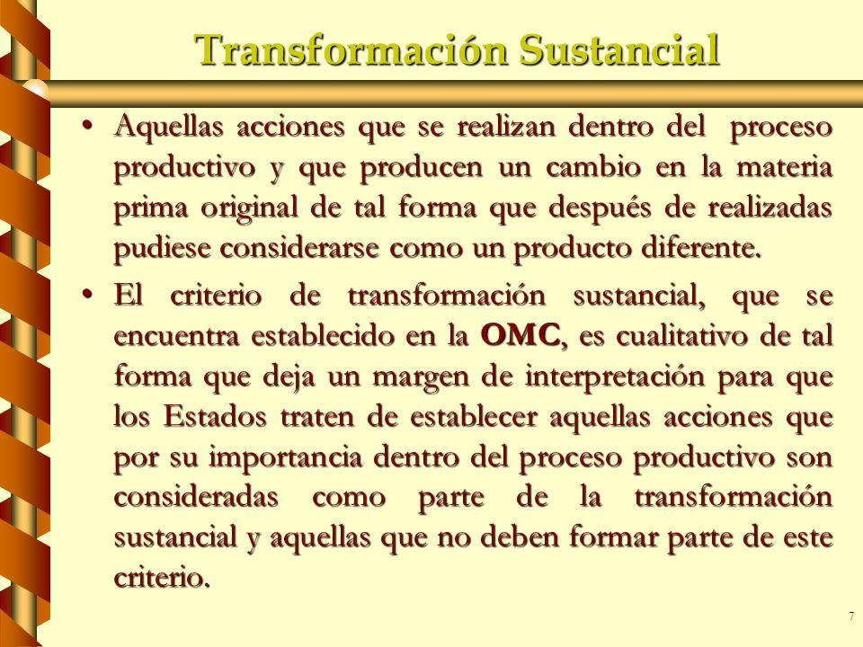 Transformación Sustancial