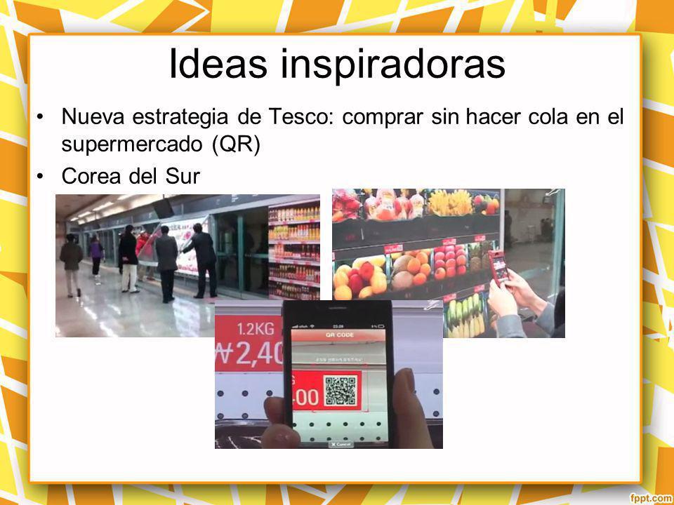 Ideas inspiradoras Nueva estrategia de Tesco: comprar sin hacer cola en el supermercado (QR) Corea del Sur.