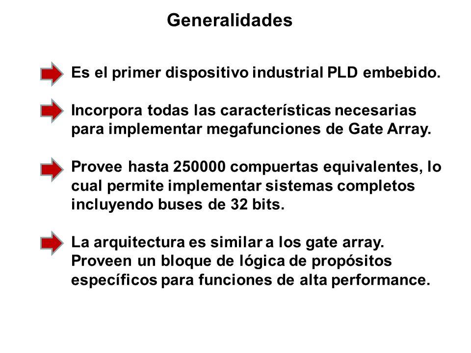 Generalidades Es el primer dispositivo industrial PLD embebido.
