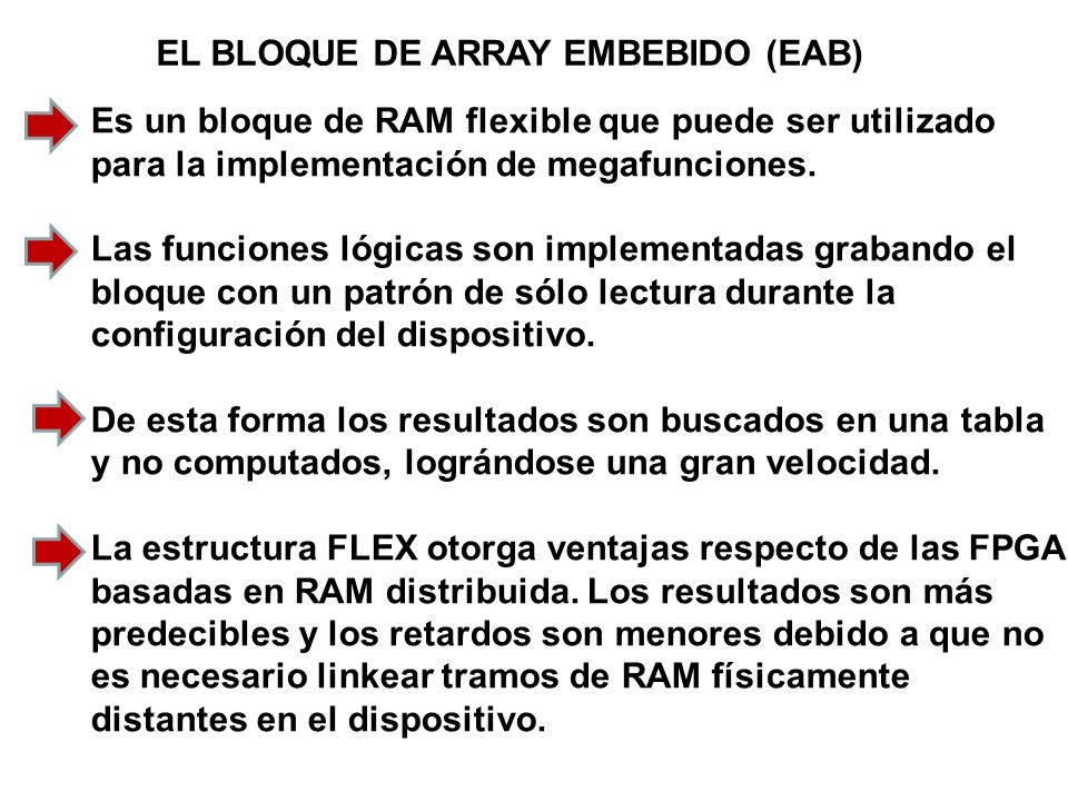 EL BLOQUE DE ARRAY EMBEBIDO (EAB)