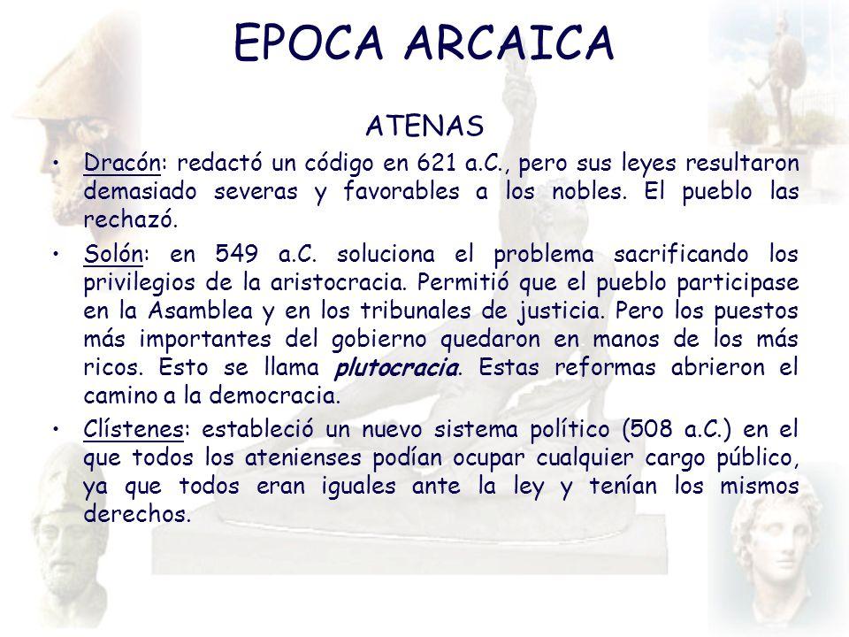 EPOCA ARCAICA ATENAS.