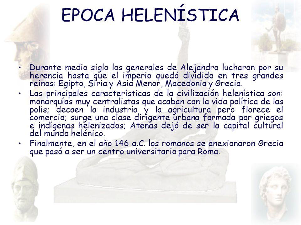 EPOCA HELENÍSTICA