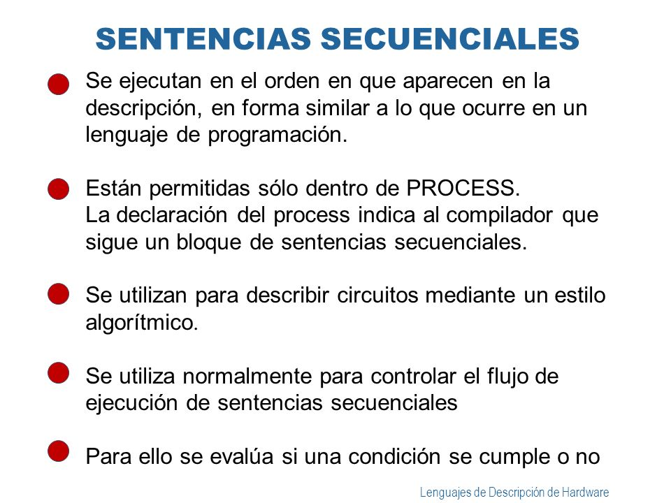 SENTENCIAS SECUENCIALES