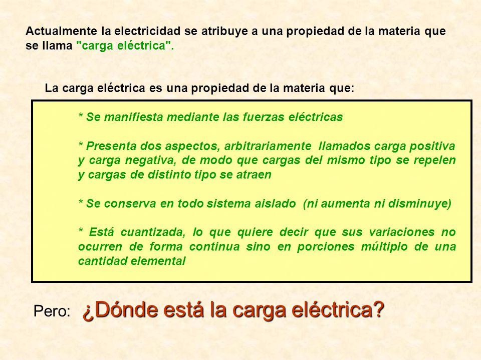 Pero: ¿Dónde está la carga eléctrica