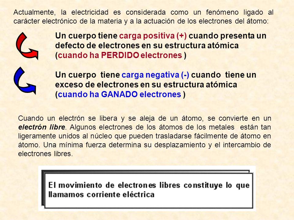 (cuando ha PERDIDO electrones )