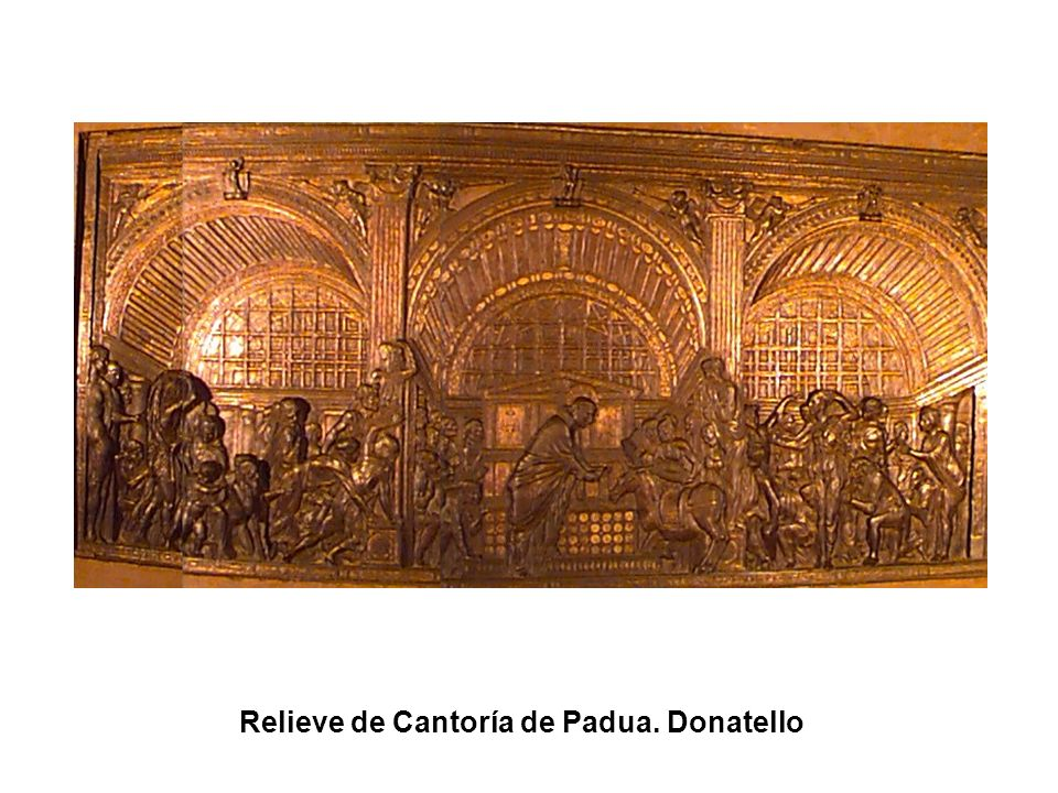 Relieve de Cantoría de Padua. Donatello
