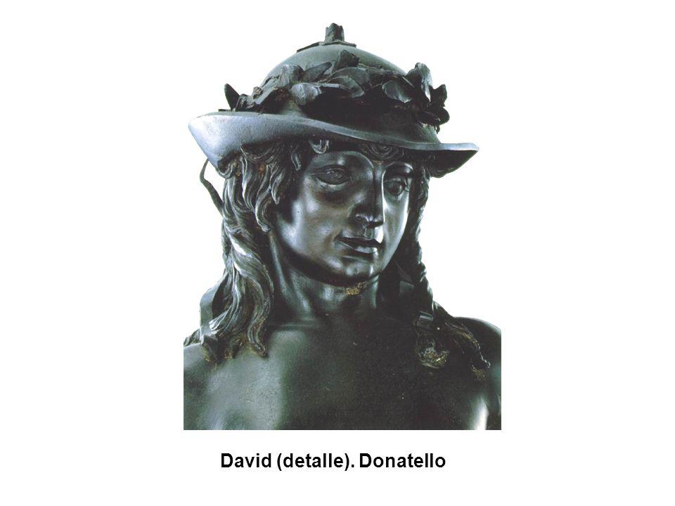 David (detalle). Donatello