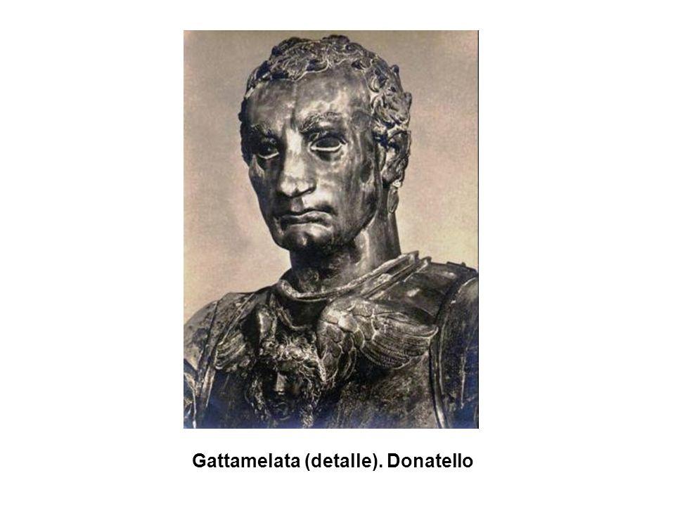 Gattamelata (detalle). Donatello