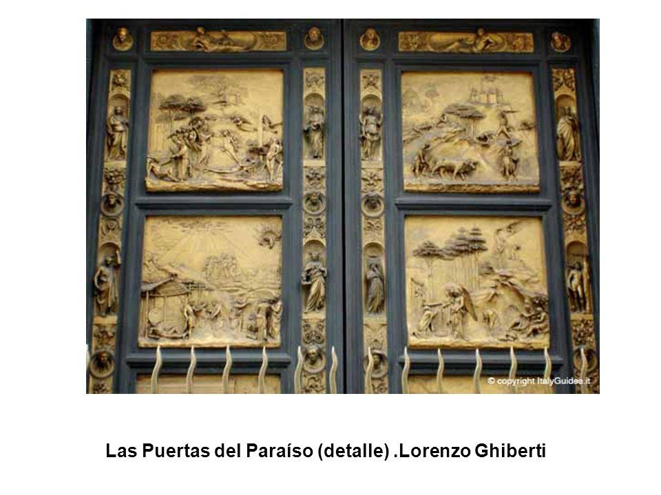 Las Puertas del Paraíso (detalle) .Lorenzo Ghiberti