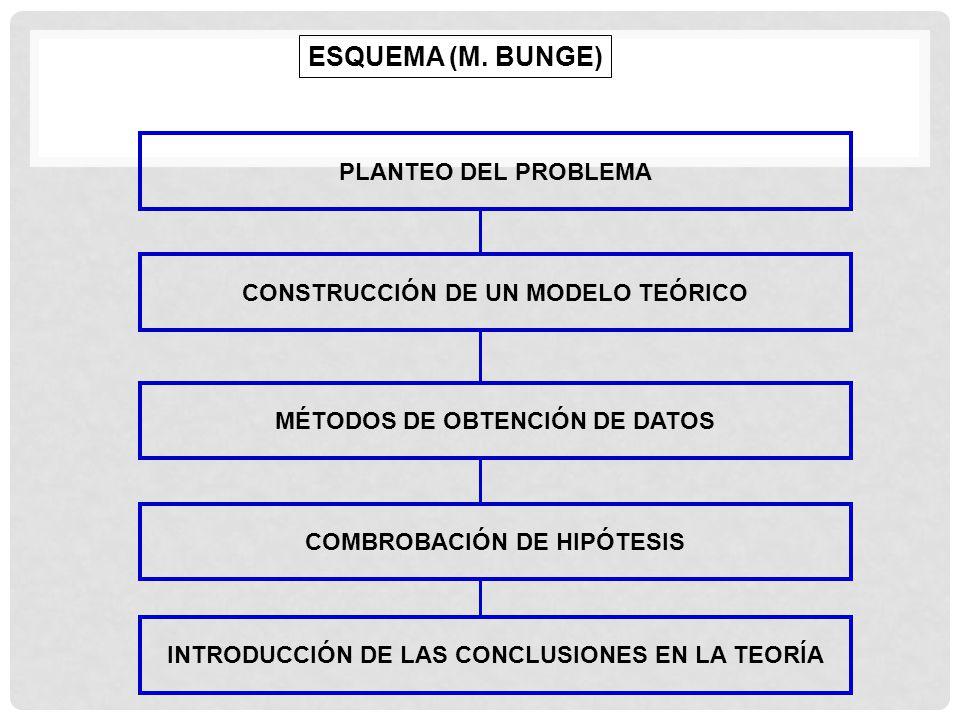 ESQUEMA (M. BUNGE) PLANTEO DEL PROBLEMA