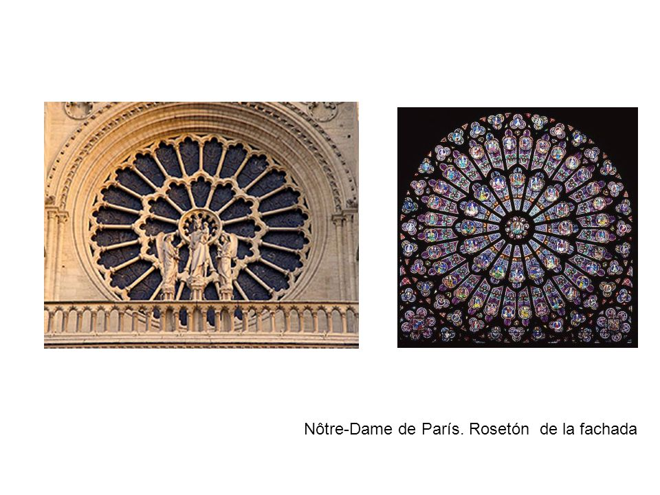 Nôtre-Dame de París. Rosetón de la fachada