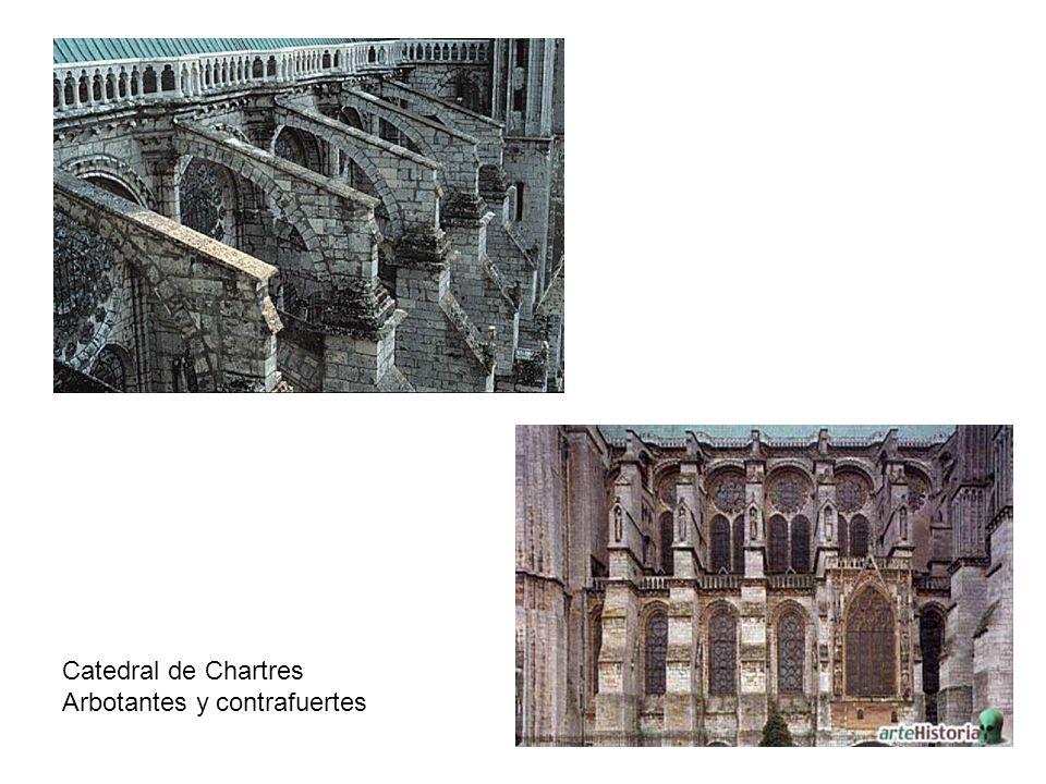 Catedral de Chartres Arbotantes y contrafuertes
