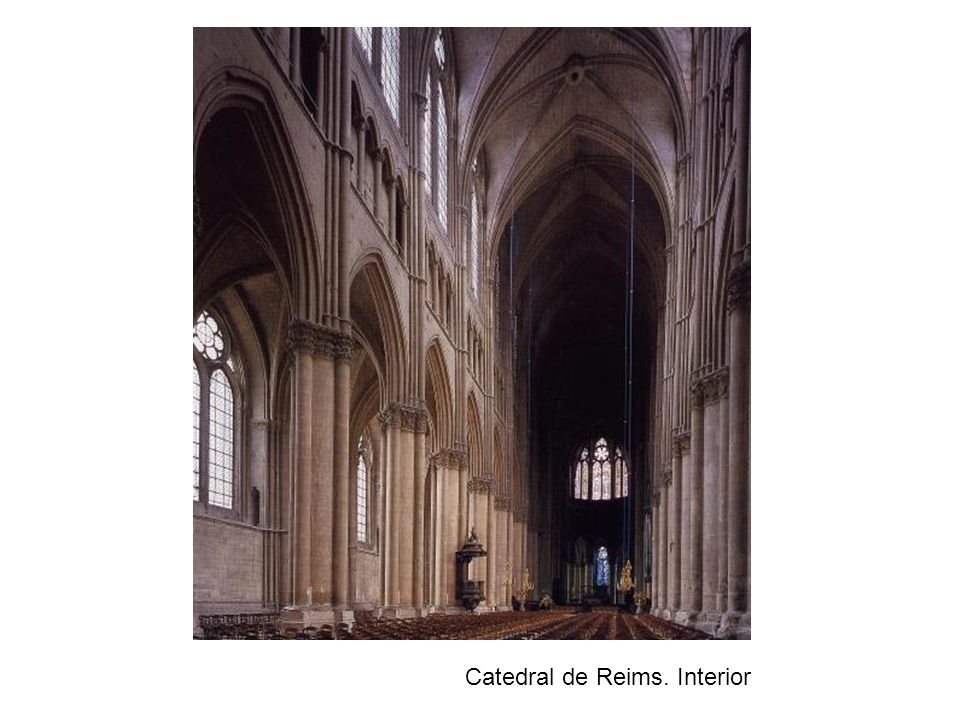 Catedral de Reims. Interior