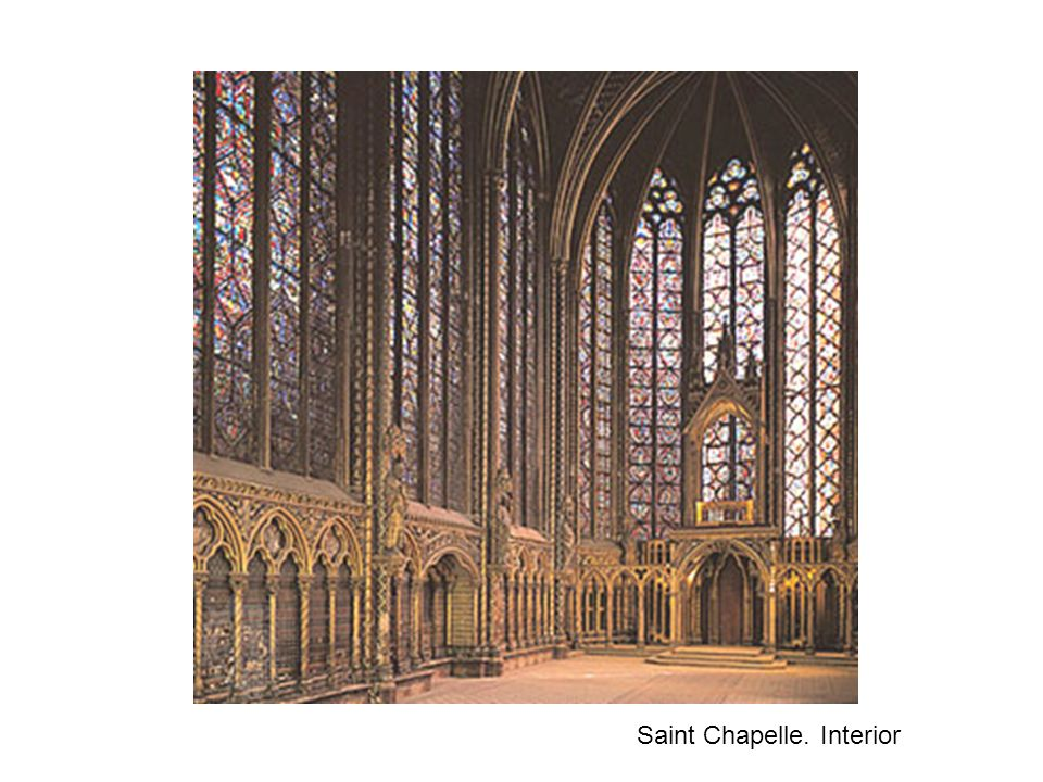 Saint Chapelle. Interior