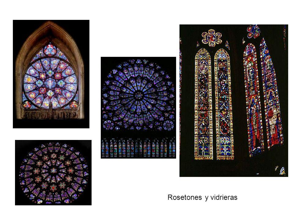 Rosetones y vidrieras