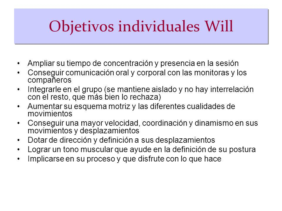 Objetivos individuales Will