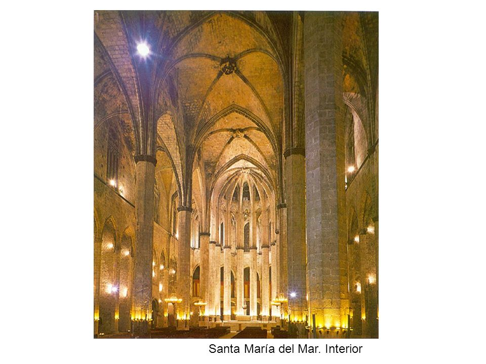 Santa María del Mar. Interior