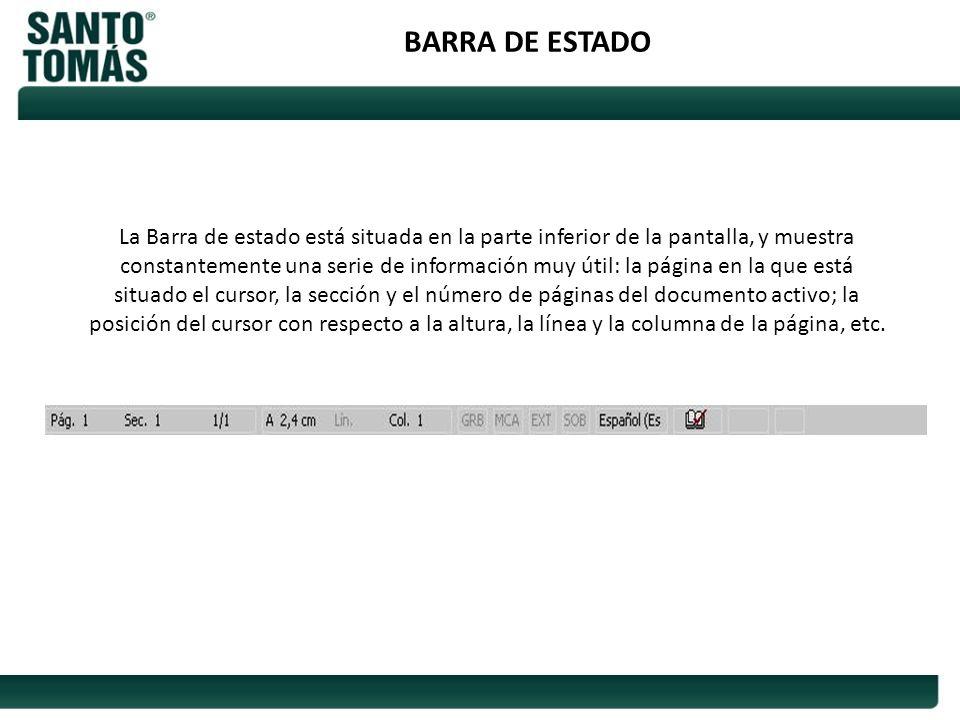 BARRA DE ESTADO