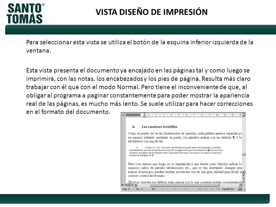 VISTA DISEÑO DE IMPRESIÓN