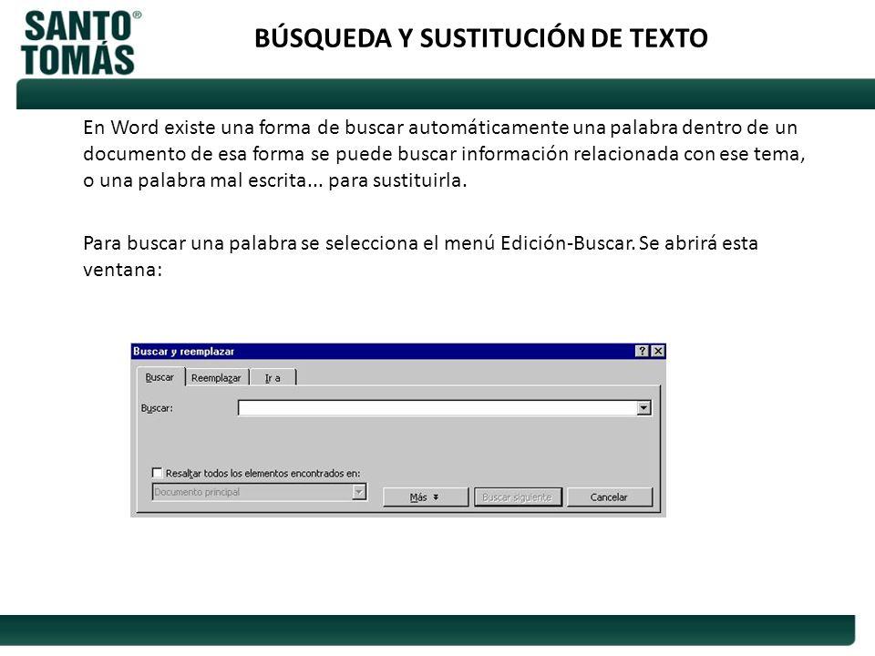 BÚSQUEDA Y SUSTITUCIÓN DE TEXTO