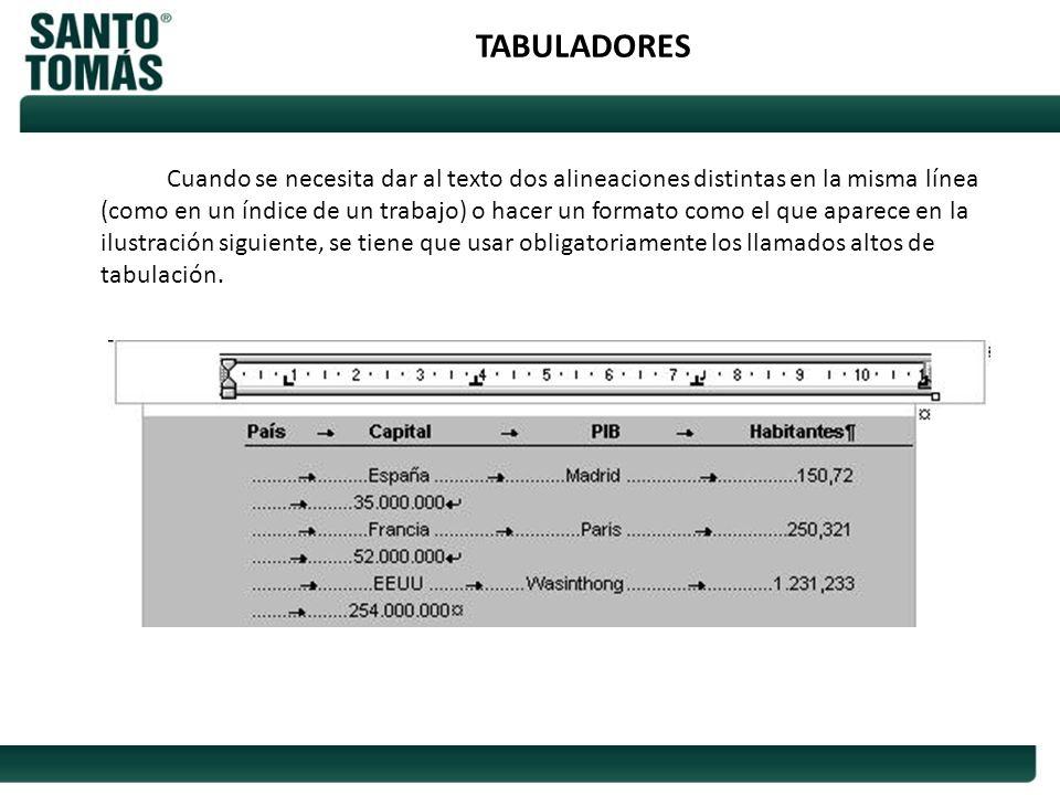 TABULADORES