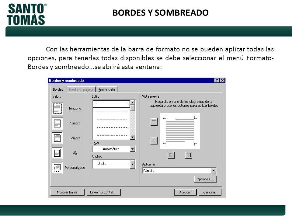 BORDES Y SOMBREADO