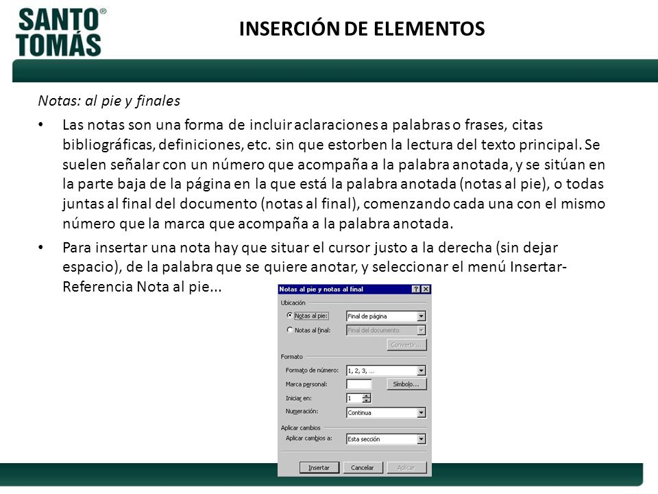 INSERCIÓN DE ELEMENTOS