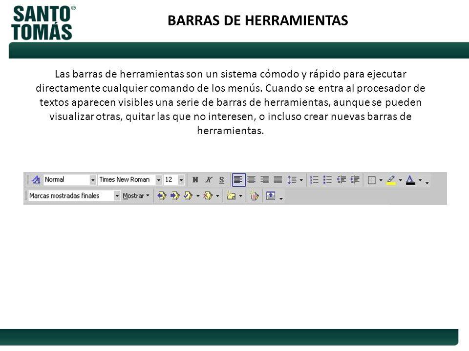 BARRAS DE HERRAMIENTAS