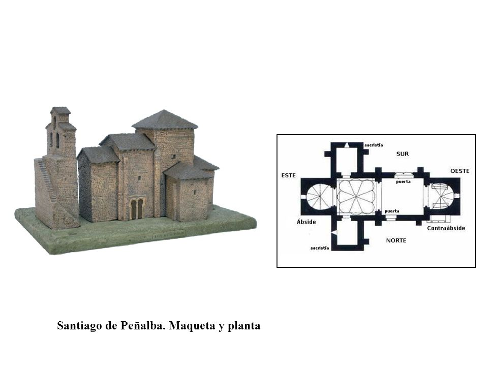 Santiago de Peñalba. Maqueta y planta