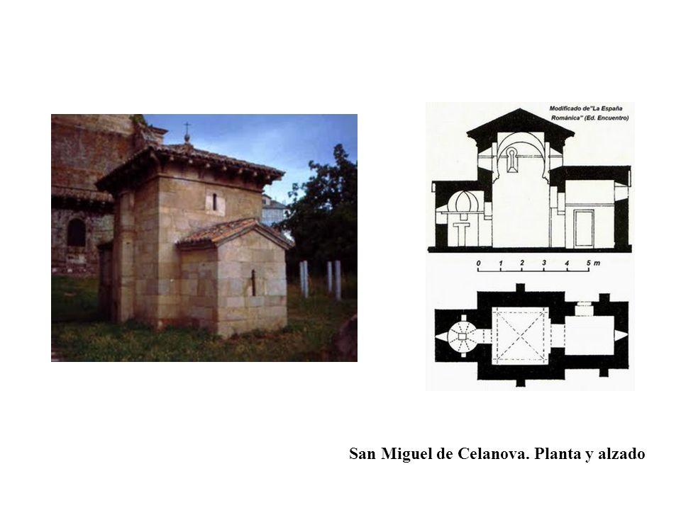 San Miguel de Celanova. Planta y alzado