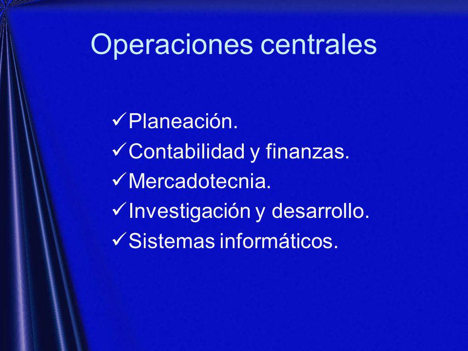 Operaciones centrales