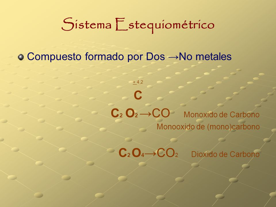 Sistema Estequiométrico