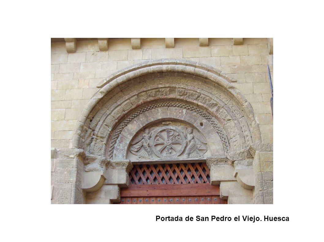 Portada de San Pedro el Viejo. Huesca