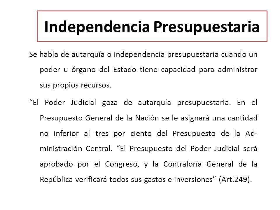 Independencia Presupuestaria